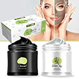 Herbal Remedy Organic Clay and Charcoal Mud Mask – 2 in 1 100% Natural Detox...