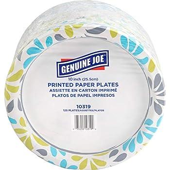 Genuine Joe Paper Plates 10   10319  125 Plates