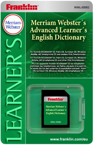 Franklin MWALD-500862 Merriam Webster's Advanced Learner's English elektronisches Wörterbuch für Bookman SD und Handhelds