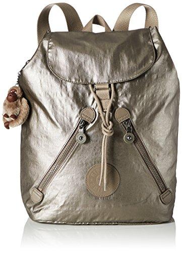 Kipling Damen Fundamental Rucksack Gold (Metallic Pewter)