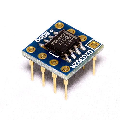『THS4631 デュアル 8Pin DIP⼩型変換基板実装済み』の1枚目の画像