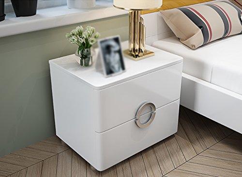 Bedside Tables LI Jing Shop - Mobili in Legno Massiccio Comodini Comodini Frigorifero in Acciaio Inox