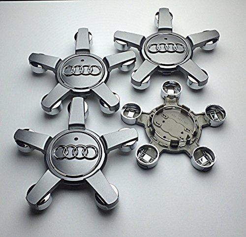 OEM AO 4LO 601. 165D 4LO601165D 4L0601025AJ, set di 4 tappicoprimozzo, grigi, 150mm