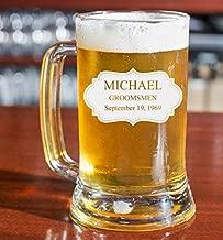 PersonalizedBeer Glass - Custom Engraved Beer Mug | Add your own Engraved Text - Board Design (Beer Mug 16oz)