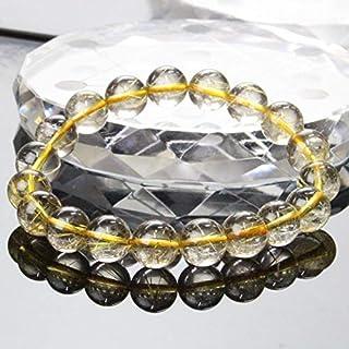 【一点物 10mm玉】 ルチルクォーツ ブレスレット Bracelet ブレスレット Bangle 腕輪 ブレス rutile quartz 金針水晶 メンズ レディース 天然石 天然石 パワーストーン a20811