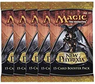 5 (Five) Packs of Magic the Gathering - MTG: New Phyrexia Booster Pack Lot (5 Packs)
