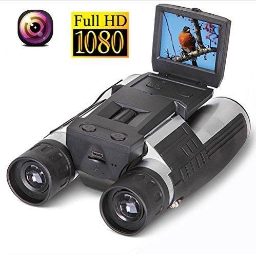 RDJM 2 '' FHD Jumelles D'appareil-Photo D'appareil-Photo, Caméscope D'enregistreur De Vidéo De 12X32 5MP - Télescope D'affichage À Cristaux Liquides HD 1080P Pour Regarder, Chasser Et Spyin