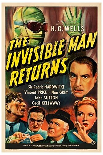 PostersAndCo TM The Invisible Man Returns Rgbh - Póster de 50 x 70 cm (*) (en papel 60 x 80 cm) d1