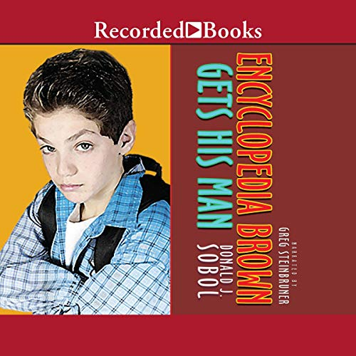 Encyclopedia Brown Gets His Man audiobook cover art