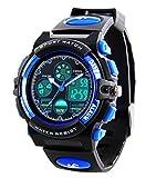 Relojes deportivos digitales para niños - Reloj deportivo impermeable para niños con cronómetro, reloj de pulsera analógico LED con cronógrafo / alarma para niños de RSVOM
