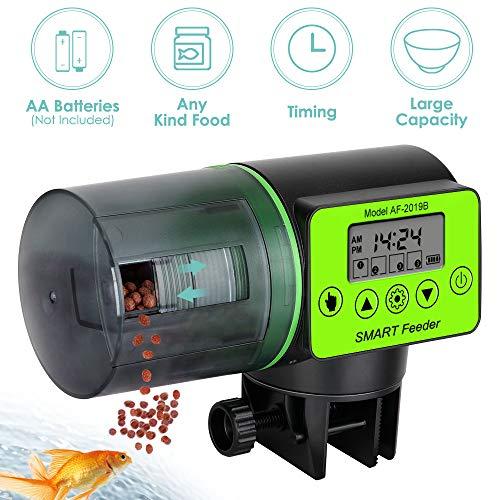 SlowTon Fischfutterautomat Automatischer Fischfutterspender 200ml Kapazität Fisch Futterautomat Aquarium für Wochenende/Feiertag für Goldfishes-Schildkröten-Nahrungsmittelzufuhr