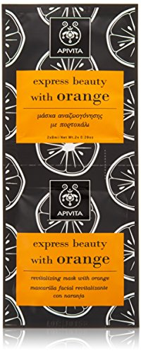 Apivita express beauty Revitalizing Mask with Orange 2 x 8ml For Dark spots, First Wrinkles