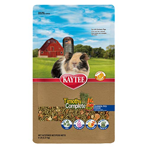 Kaytee Timothy Hay Complete Plus Fruits And Vegetables Guinea Pig Food, 5-Lb Bag