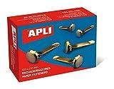 APLI 12284 - Encuadernadores metálicos sin arandela 17 mm 100 u....