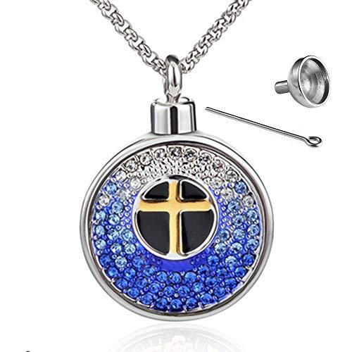 XIANGAI Pendentif commémoratif Pendentif commémoratif Double Goutte d'huile et Diamant Pendentif Bouteille de Parfum (Color : A)
