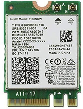 Intel 3rd generación Wireless de Banda Dual 802.11AC 3168WiFi + Bluetooth Tarjeta