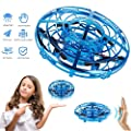 Mini UFO Drone Toy, Hand Controlled Drone for Kids Mini Flying Ball UFO Toys Infrared Induction Remote Control Flying Aircraft with 360° Rotation and Flashing LED Light Gifts for Boys Girls Adults