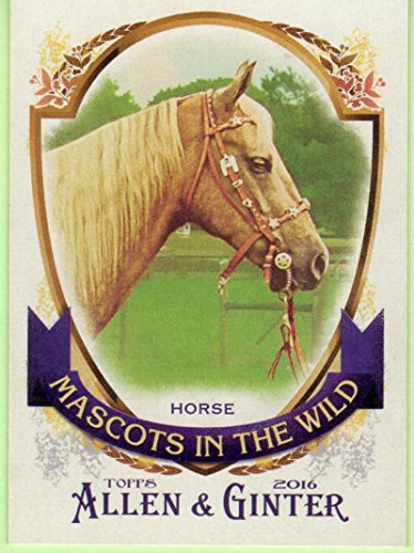 2016 Allen and Ginter Mascots in the Wild #MIW-6 Horse - Texas Rangers NM-MT