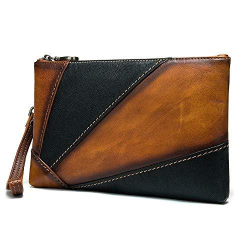 Bolso del sobre de Gran Capacidad de la Capa Principal del Bolso de Embrague de los Hombres Bolso de Embrague del iPad de 7,9 Pulgadas-Color 1