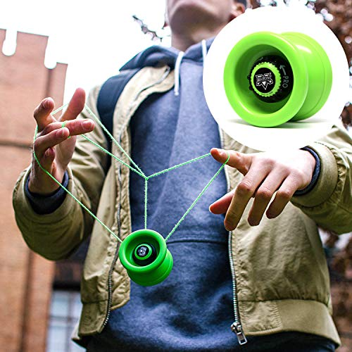 YoyoFactory VELOCITY Yo-Yo - VERT (Du Débutant Au Professionnel, Jeu Yoyo Moderne , Roulement à Billes En Métal, Ficelle Et Instructions Incluses)