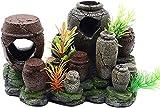 Nano Air Stone Fish Tank Decoraciones Burbujas de Aire Adorno de Olla de Arcilla Rota Bomba de oxígeno Artesanías de Resina para decoración de Acuario Difusor de liberación