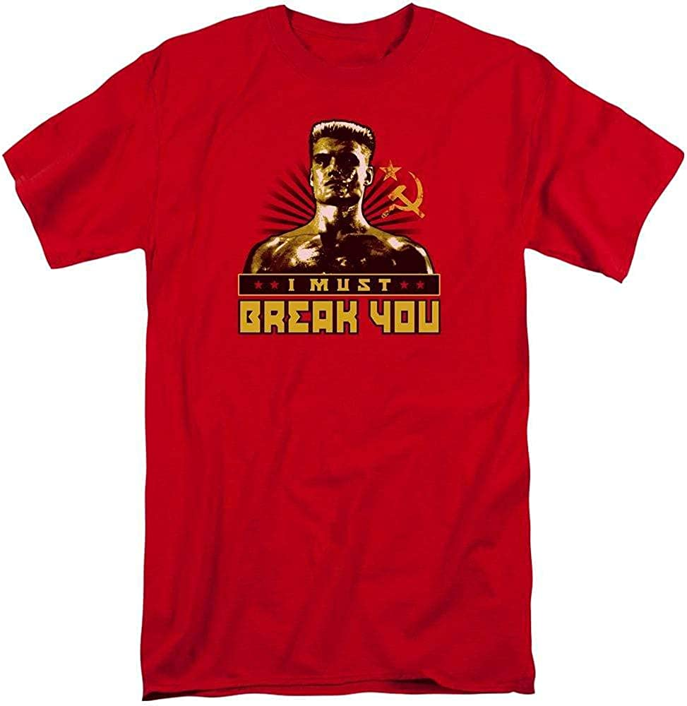 Rocky Iv I Must Break You Adult Tall Fit T-Shirt