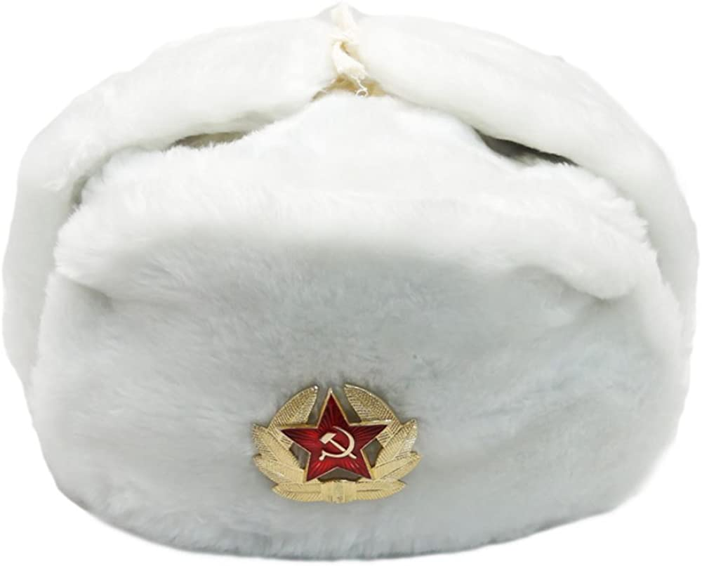 Fur Selling and selling Winter Ushanka Russian Hat with Star and New product type Red E Pocket Secret