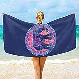 Emoya - Toalla de playa de microfibra, diseño de mandala tribal de elefante y mandala ligera, de secado rápido, 188 x 94 cm