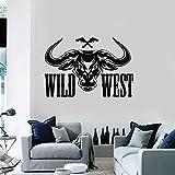 Tianpengyuanshuai Adhesivo de Pared Wild West Vinilo Decorativo de Atletismo de Texas 85X58cm