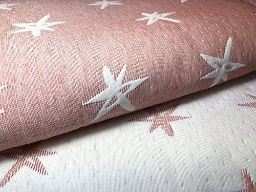 NORA HOME Colcha Cubrecama Piqué de Jacquard Mod. Estelar con Estrellas. Reversible. Todas Las Medidas (Coral, 250x260 cm (Cama 150/160))