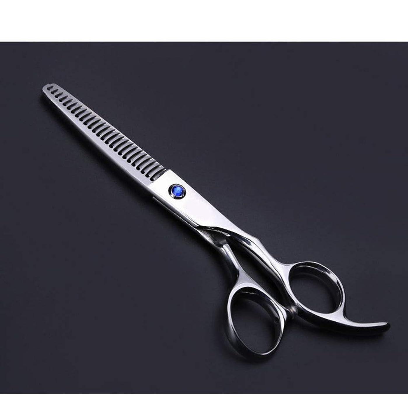 噛むしばしばつぶす理髪用はさみ 6インチ美容院プロのヘアカットはさみヘアカットはさみステンレス理髪はさみ (色 : Silver)