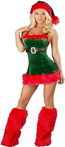 envio rapido a ti CVCCV Disfraces de Navidad Atractivos Disfraces de de de mujeres Adultas Vestido de Navidad de Corte bajo Disfraces de Rendimiento Discoteca Fiesta Use Tela de algodón  precios bajos todos los dias