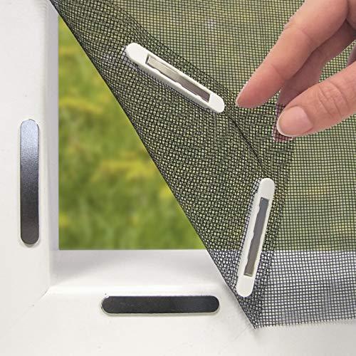 Hoberg 07660 Moustiquaire de fenêtre avec fixation magnétiqu