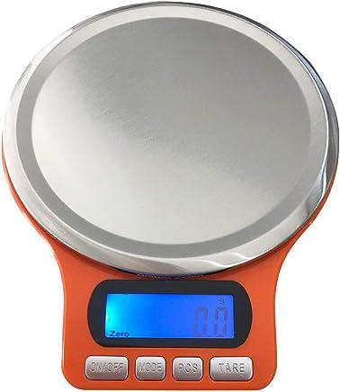 UPKOCH Mini Kitchen Scale Electronic Scale Food Scale Multifunction Scale for Tea Leaf Kitchen Food Jewelry - Orange (3kg/0.1g)