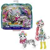 enchantimals Mini-poupée Tadley Tigre et Figurine Animale Kitty aux Long Cheveux Roses avec Jupe à Motifs en Tissu, Jouet pour Enfant, Gfn57