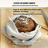Varvara Home 2-er Pack Leinen Brotbeutel - Brot Tasche - Leinenbeutel - Beutel Stoff Leinen - 30 x 40 cm - Natur/Hell Natur - 5