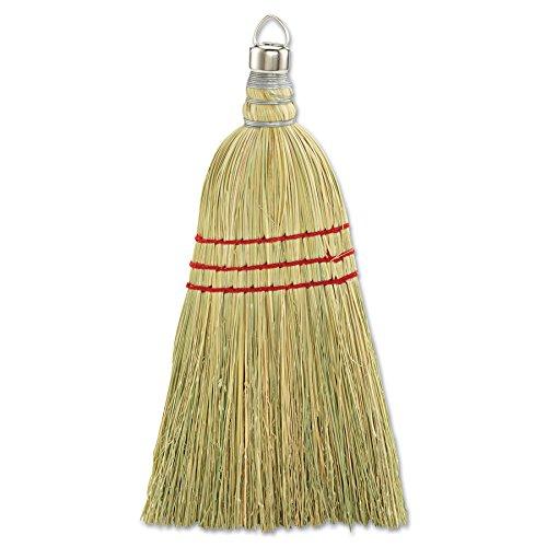 "10"" Wooden Whisk Broom W/ Corn Fiber Bristles, 12/Pack"