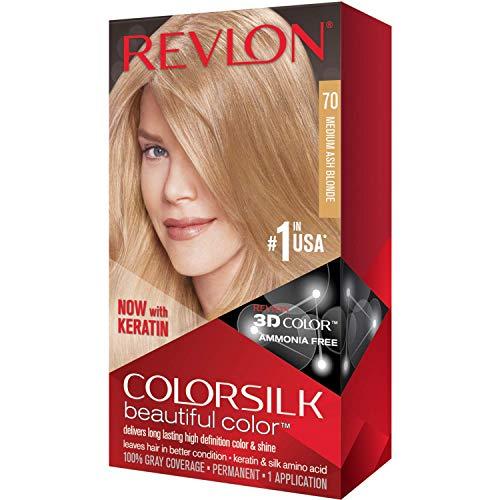 Revlon ColorSilk 70 - Tinte para el cabello (3 unidades), color rubio ceniza medio