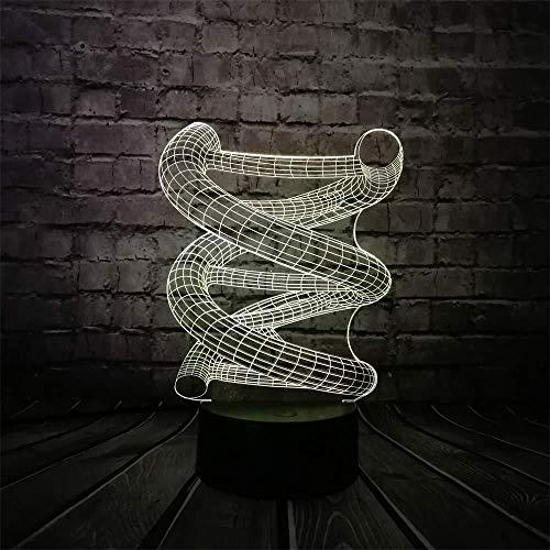 Nachtlampje voor kinderen 3D lamp nachtlicht 3D DNA lamp LED USB meerkleurig wisselend licht huis slaapkamer gloeilampen geschenk slaapkamer medische prop met USB-afstandsbediening