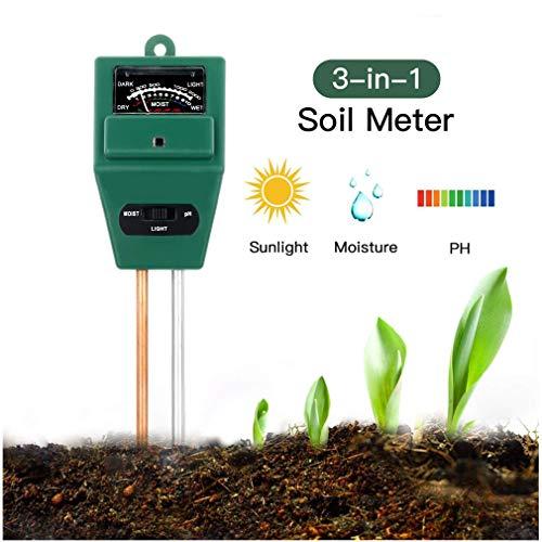 Soil Moisture Meter--Rottay 3-in-1 Soil Test Kit Gardening Tools for Moisture, PH and Light,  Plant Soil Tester for Home, Farm, Lawn, Indoor/Outdoor -No Battery Needed
