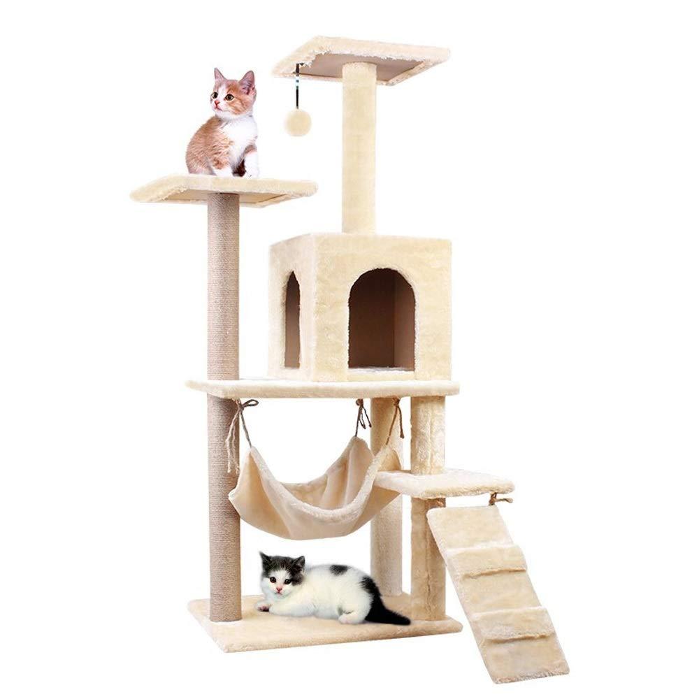 QWV Práctico Columpio para Gatos Zona de Juegos del Gato del Gato del árbol Que Sube