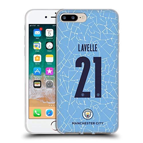 Head Case Designs Oficial Manchester City Man City FC Rosa Lavelle 2020/21 Kit Hogar Mujer Grupo 2 Carcasa de Gel de Silicona Compatible con Apple iPhone 7 Plus/iPhone 8 Plus