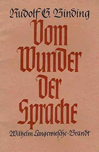 Vom Wunder der Sprache. 'Das Vermächtnis'. Eine handgeschriebene Reihe der Bücher der Rose.