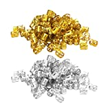 Lurrose Dreadlocks perline dorate argento dread lock metallo treccia perline polsini capelli tubo in filigrana per donne uomini 200 pezzi