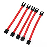 5 Pieces of 5' inches (12.7cm) Short Straight to Straight SATA Latching Cable