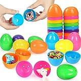 Wishstar Huevo de Pascua, Huevos de Plástico Colores Rellenables para Pascua, 18 PCS...