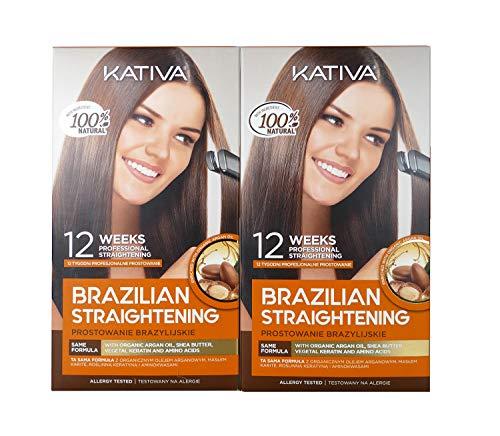 Kativa - Kit de lissage brésilien à la kératine et à l'huile d'argan PACK 2x150 ml