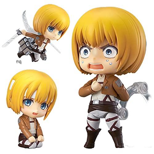 LKOP Anime Attack On Titan Armin Arlert Q Versión Figma 10Cm, Figura De Acción De PVC Modelo Juguetes Muñeca Regalo