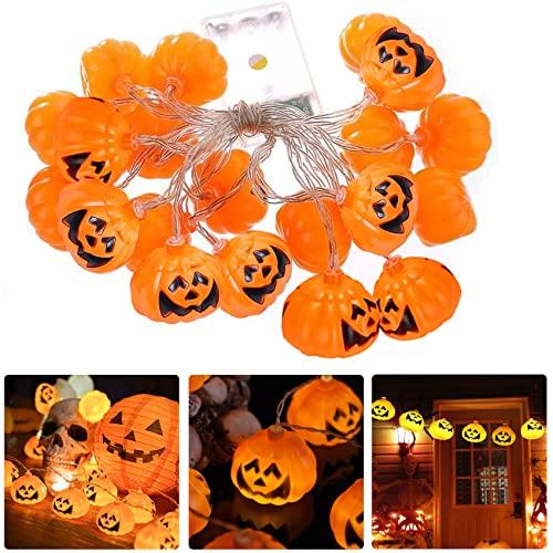 Halloween Luci Stringa, 3M/20 LED Halloween Zucca Luminosa, IP65 Impermeabile Luci Halloween Zucca, 3D Luci di Zucca di Halloween Luci del Festival per la Decorazione di Interni Esterni