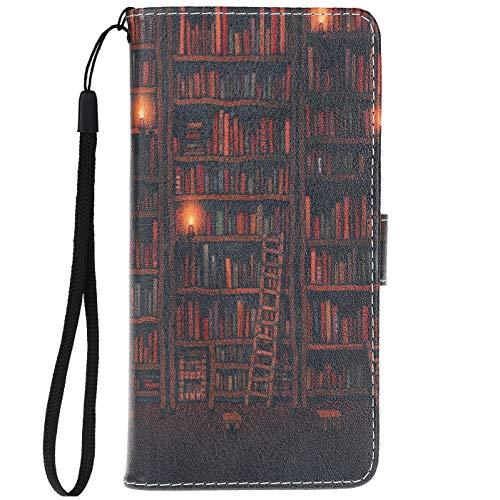 ocketcase Für BQ Aquaris V/VS Hülle, PU Leder Tasche Schutzhülle Hülle Cover Wallet im Bookstyle mit Magnetverschluss Handyhülle Standfunktion - Farbe 11